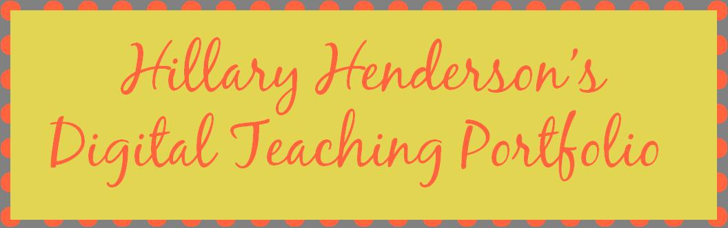teacherportfoliohhenderson [licensed for non-commercial use